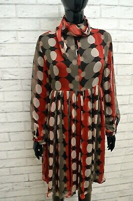Vestito in SETA Donna ZARA Tubino Vintage Abito Dress Woman Silk Taglia Size L