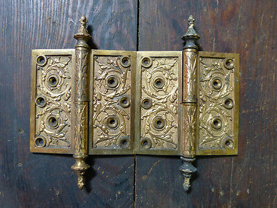 Matched Pair Circa 1876 Cast Bronze  Hinges By Corbin Left Hand