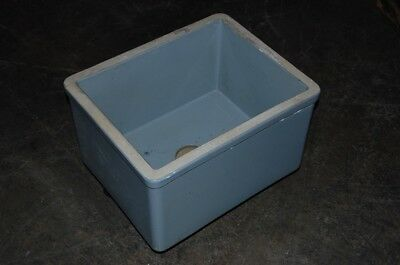 Large Rectangular Blue Glazed Lab Sink School Salvage Undermount Vessel 3 of 3