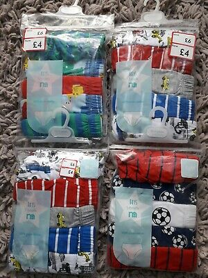 Boys Underpants Briefs Bundle Of 20 Pairs Age 18/24 Months Diggers Football
