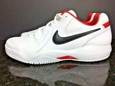 13afa7d2738e4 Men s Nike Air Zoom Resistance Shoes White Tennis Sneakers Sz 11.5 918194