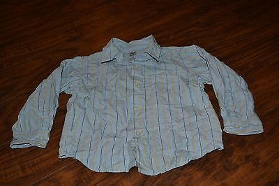 I1- Faded Glory Striped Long Sleeve Button Down Shirt Size 3T