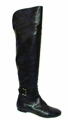 f66d479de38 Cole Haan Air Marisol Leather Over The Knee Boot Black Size 7.5B
