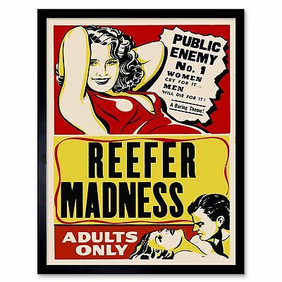 Reefer Madness #1 Vintage Film Movie Poster 4 sizes, matte+glossy avail