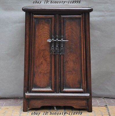 """A24""""Collect Old Chinese huanghuali wood hand made table desk storage box cabinet"""