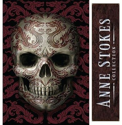 New Anne Stokes 'oriental Skull' Bedside Mood Table Lamp ~ Gothic Fantasy Tattoo