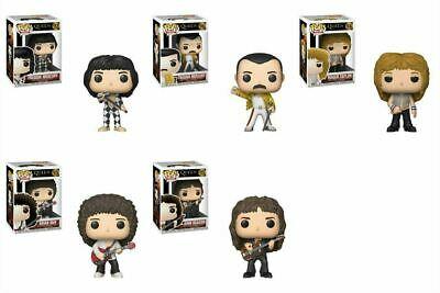 Funko QUEEN 5pc POP SET (2) Freddie Mercury - Roger Taylor Brian May John Deacon