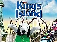 (2) Kings Island 1 day General Admission tickets E-Tickets Good Any Day