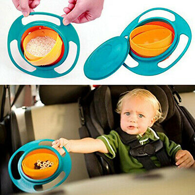 Baby Feeding Toddler 360 Rotating Bowl Non No Spill Kids Gyro Hot Selling Toy