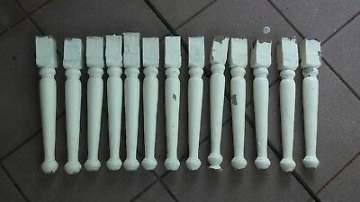 13 Architectural Salvage  Wooden Spindles Balusters taken off gingerbread header