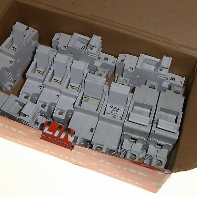 11x mixed single phase fuse carriers din rail mount Legrand 14x51 Gould 22x58
