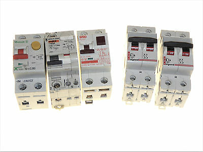 Various RCD breakers and Main switches double pole
