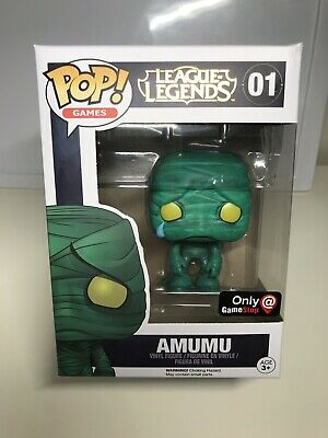 Funko POP! Games League Of Legends Amumu Pop 01 Game Stop Exclusive Box Damaged