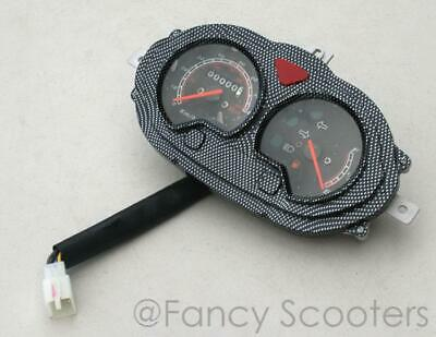 Odometer,Fuel Gauge,Lights Indicator Cluster For 50Cc 150Cc Scooters (8 Wires)