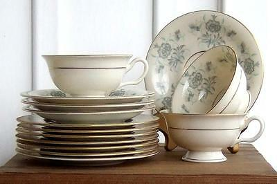 (LOT X14) Castleton China Caprice 3 Cups, 4 Saucers, 7 Bread Butter Plates / USA