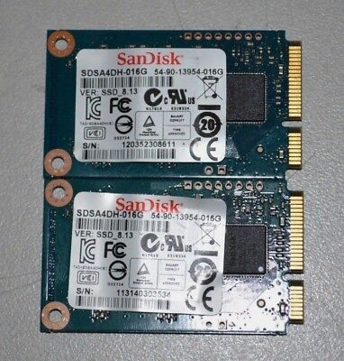 "Lot of 2 - SanDisk 16GB mSATA 1.8"" SSD SDSA4DH-016G 54-90-13954-016G"