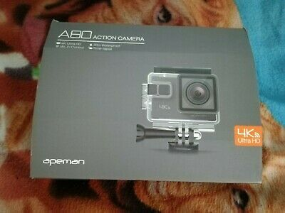 APEMAN A80 Action Camera 4K Ultra HD WiFi Waterproof with accessories - Dash Cam