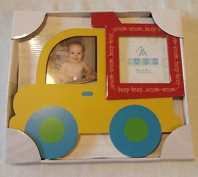 Malden International Designs Yellow Dump Truck Picture Frame, 4x4, Yellow