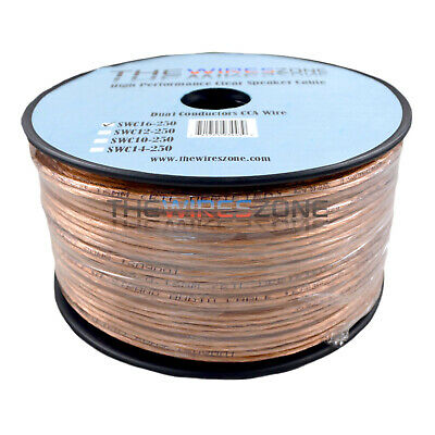 12/2 TRANSPARENT SPEAKER Wire Cable 12 AWG 2 Gauge Audio
