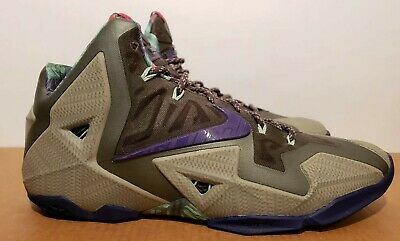 best service 53545 a16dd Size 13 NIKE LEBRON XI 11 TERRACOTTA WARRIOR MINE GREY-PURPLE VNDS Kings  throne