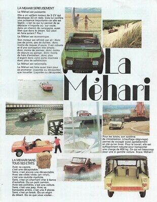 "CITROEN ""Méhari"" - 33 HP - 08/1970 - French sales brochure, catalogue, prospekte"