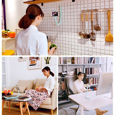 Flexible Cute Worm Lazy Bracket Suction Cup Phone Stand Holder Mount Universal