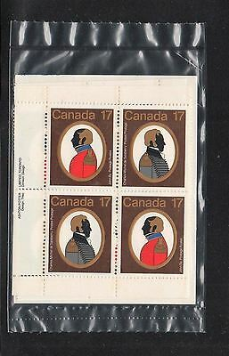 CANADA 1979 #817-818 17¢ Stamp Sealed Set COLONELS Military Plate Block MNH