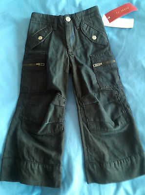 Boy's Designer French Connection Oily Coated Jeans Age 2 RRP £59.99 BNWT