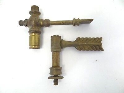 Brass Antique Converted Gas Valves Fixtures Decorative Feather Finial Parts