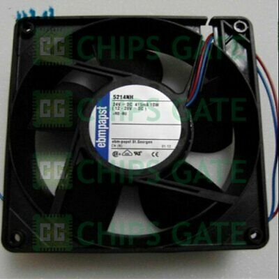 1PCS NEW Ebmpapst 5214NH fan 127*127*38mm 24V 10W 2pin Fast Ship