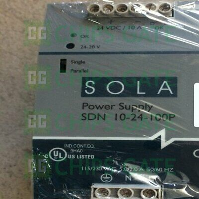 1PCS Used SOLA switching power SDN 10-24-100P DC24V 10A tested Fast Ship