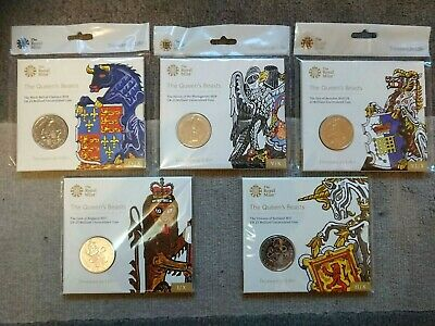 Royal Mint 2017 2019 Queens Beasts Brilliant Uncirculated £5 Five Pound