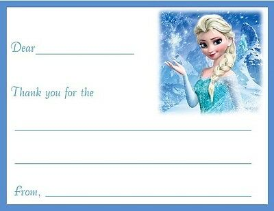 Frozen #6 ~ Personalized Note//Thank You Cards