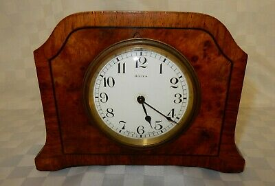 Vintage French Made Bayard 8 Day Walnut Mantel Clock