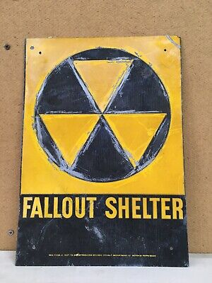 Official Government Issue USED 1960's Vintage Fallout Shelter Sign