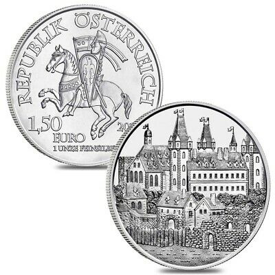 Lot of 2 - 2019 1 oz Austrian Silver Wiener Neustadt Vienna Coin BU - 825th