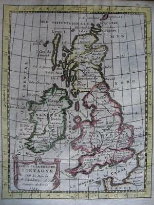1772 - BUFFIER - Small map BRITISH ISLES UK IRELAND SCOTLAND ENGLAND