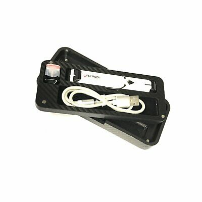 Travel Case for Limitless Ply Rock Pod system, wrapped in Black Carbon Fiber