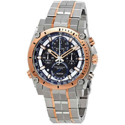 Bulova Precisionist Chronograph Quartz Black Dial Men's Watch 98B317