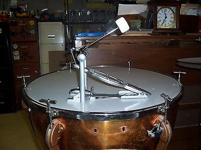vintage ludwig + w.f.l. speed king bass drum pedals-