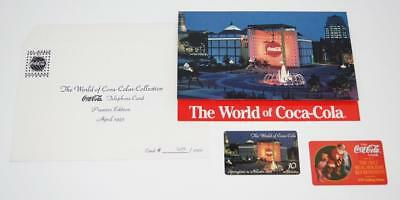1995 World of COCA-COLA Phone Card + Envelope EXTRA Card COKE Springtime Atlanta