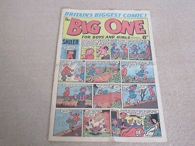 THE BIG ONE, Britains Biggest Comic - No 2, Oct 24th 1964- very good condition