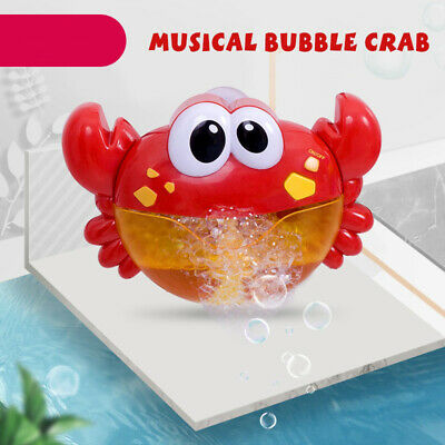 Baby Toys Bubble Frog Crabs Bath Swimming Maker Machine With Music Water