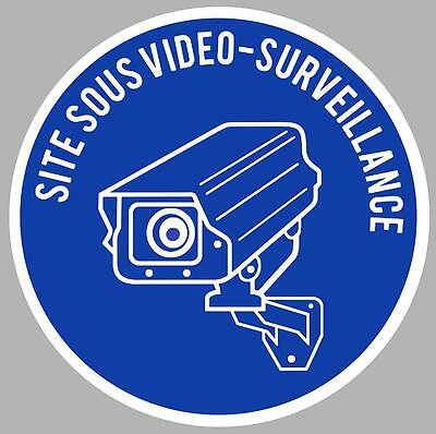 Sticker Protection  Sous Video Surveillance Camera  10Cm 100Mm Autocollant