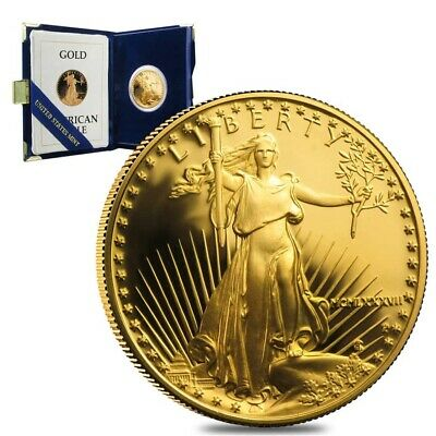 1987-P 1/2 oz $25 Proof Gold American Eagle (w/Box & COA)