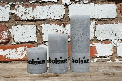 One Small Rustic Pillar Candle 68mm x 80mm BLUE   BOLSIUS