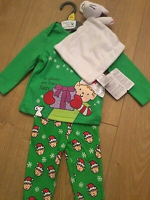 Mothercare Age 3-6 Months That's Not My ELF Christmas Pyjamas & Comforter