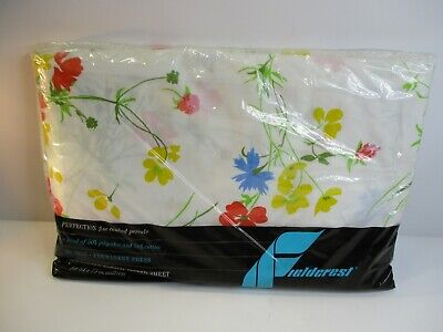 """VTG Fieldcrest No Iron Percale Double Bed Fitted Sheet """"Fragrance"""" NOS Sealed"""