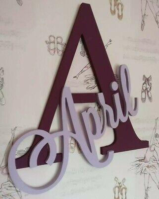 Initial & Name Wall Decor Art - Personalised with any name/word. Large 50cm tall