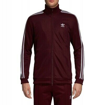 357cce2efa303 New Adidas Originals Mens Superstar Maroon Track Jacket DH5830 SZ. L  UltraBoost